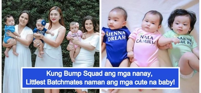 Momshies na ngayon! Camille Prats, LJ Moreno reunite with the 'Bump Squad' in adorable photoshoot