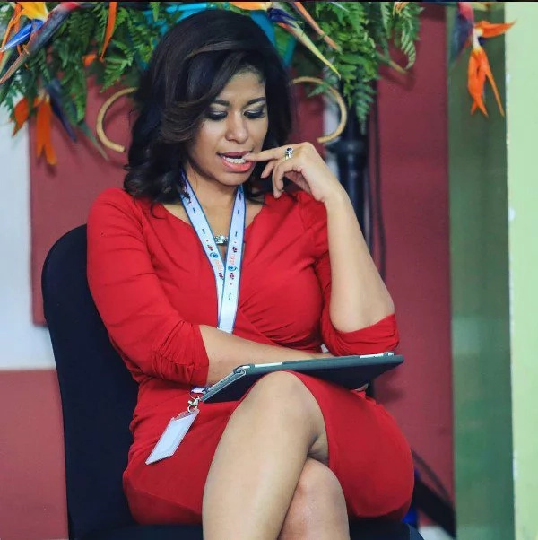 Julie Gichuru reveals herself in flesh-hugging hot-pant