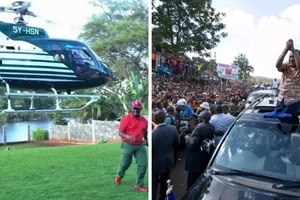Governor Kabogo steals Uhuru's show with expensive MILITARY vehicles (photos)