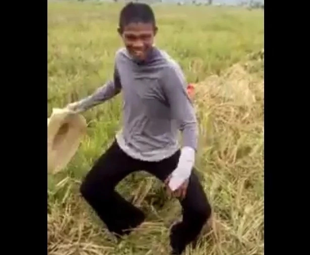 Pinoy farmer shares his powerful version of Budots Dance