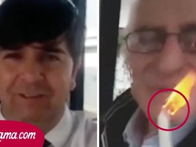 El conductor del autobús obligó a este anciano a soplar esta vela por una razón que dejó a todos los pasajeros sin palabras