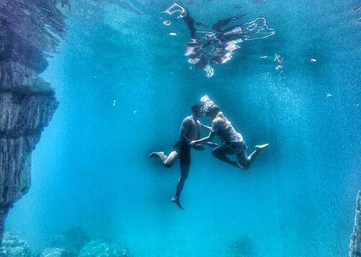 Parang pelikula lang! Amazing underwater photos of Aljur Abrenica and Kylie Padilla wow netizens