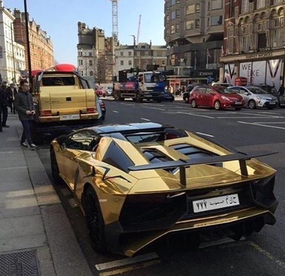 Saudi Billionaire Fined For Illegal Parking Of Golden Cars