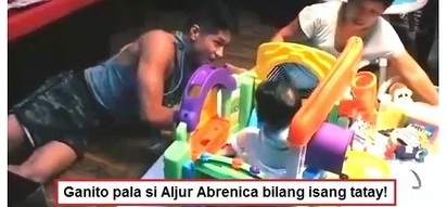 Sobrang kwelang daddy! Video of Aljur Abrenica playing with his son Alas Joaquin at home goes viral