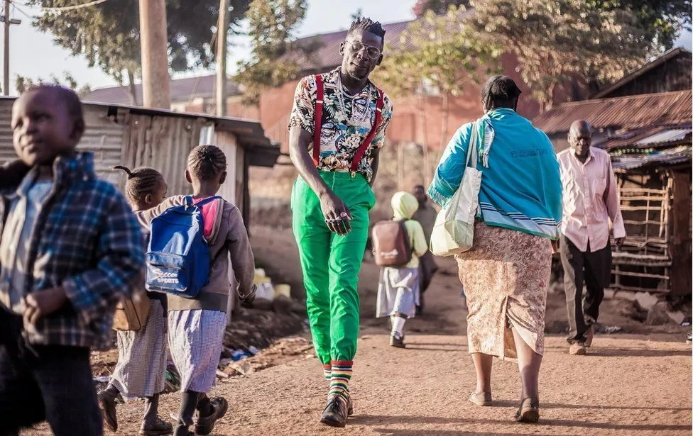 He buys his clothes from Gikomba market. Photo: BBC/Brian Otieno