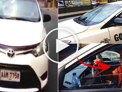 This taxi driver was stopped by a motorcycle rider from counterflowing at Shaw Boulevard. What happens next will make your blood boil in anger!