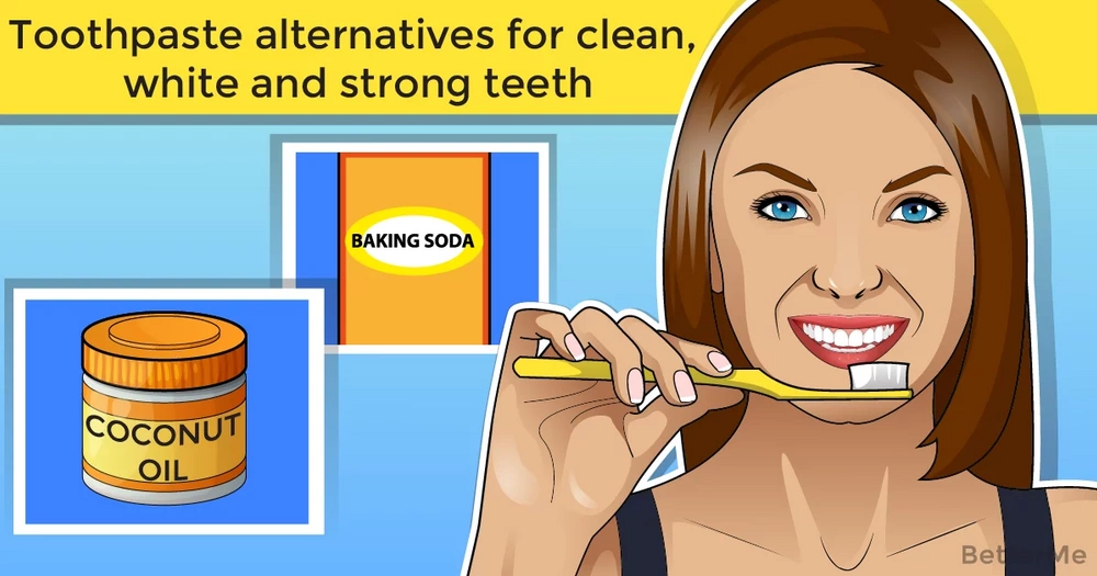 Toothpaste alternatives for clean, white and strong teeth