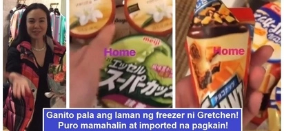 Nakakalula sa mahal! Gretchen Barretto shows off her imported ice cream and chocolates