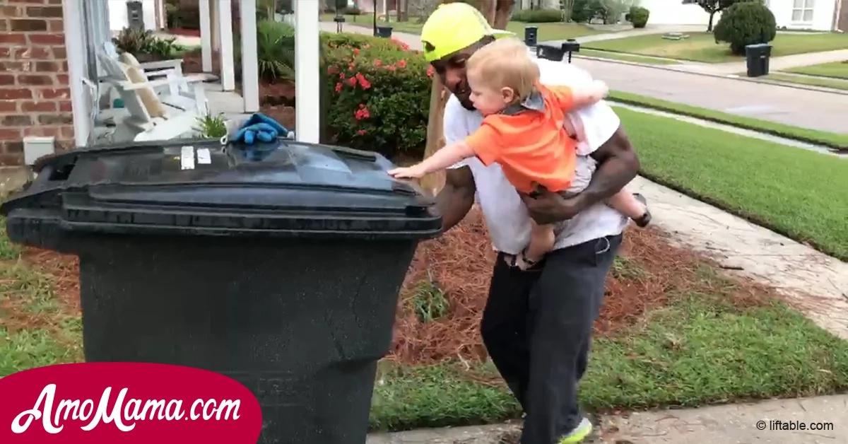 Ella vio al hombre de la basura recoger a su hijo y comenzó a filmar. Esto es lo que sucedió después...
