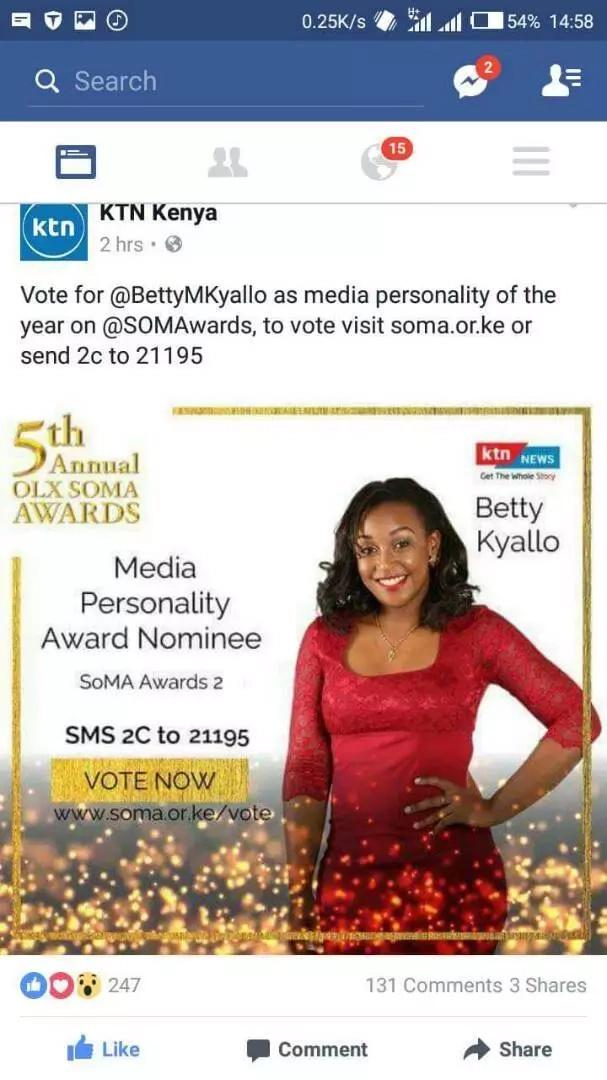 Mpango wa kumpigia debe Betty Kyallo watibuka, hatosahau haraka maneno aliyoambiwa na Wakenya