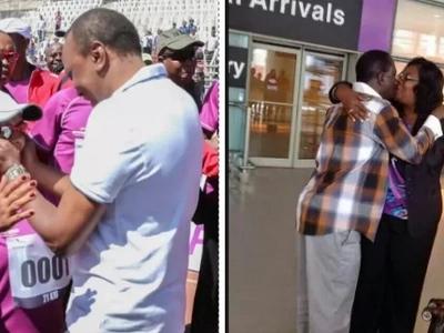 Picha za Uhuru na Margaret VS Raila na Ida - nani wakali kwa MAPENZI?