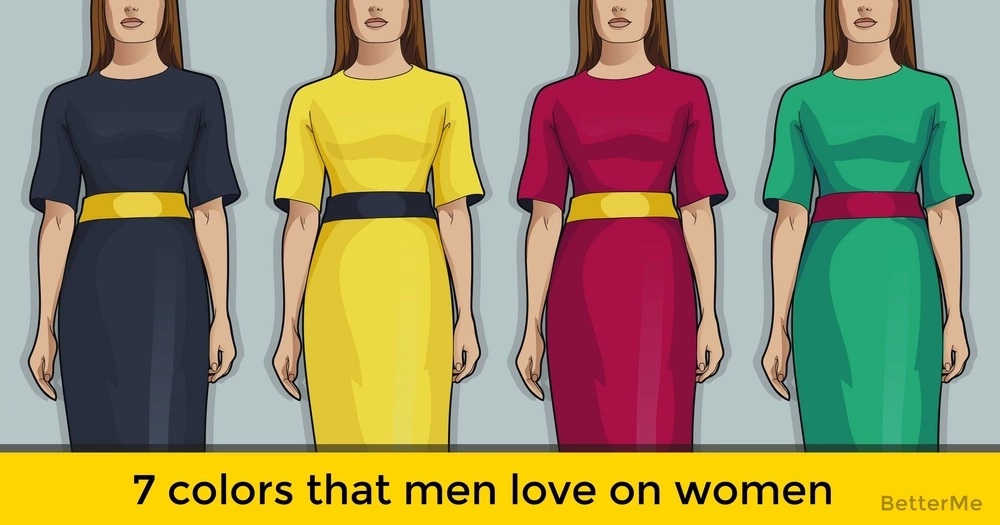 7 colors that men love on women