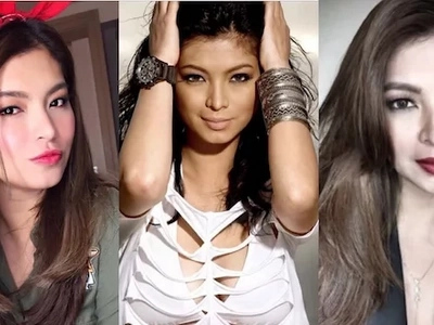 Angel Locsin greets a man in her life she can't live without