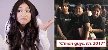 Supportive parents kami! Nadine Lustre's mom flaunts 'C'mon guys' shirt in support of daughter's it's okay to live-in stance