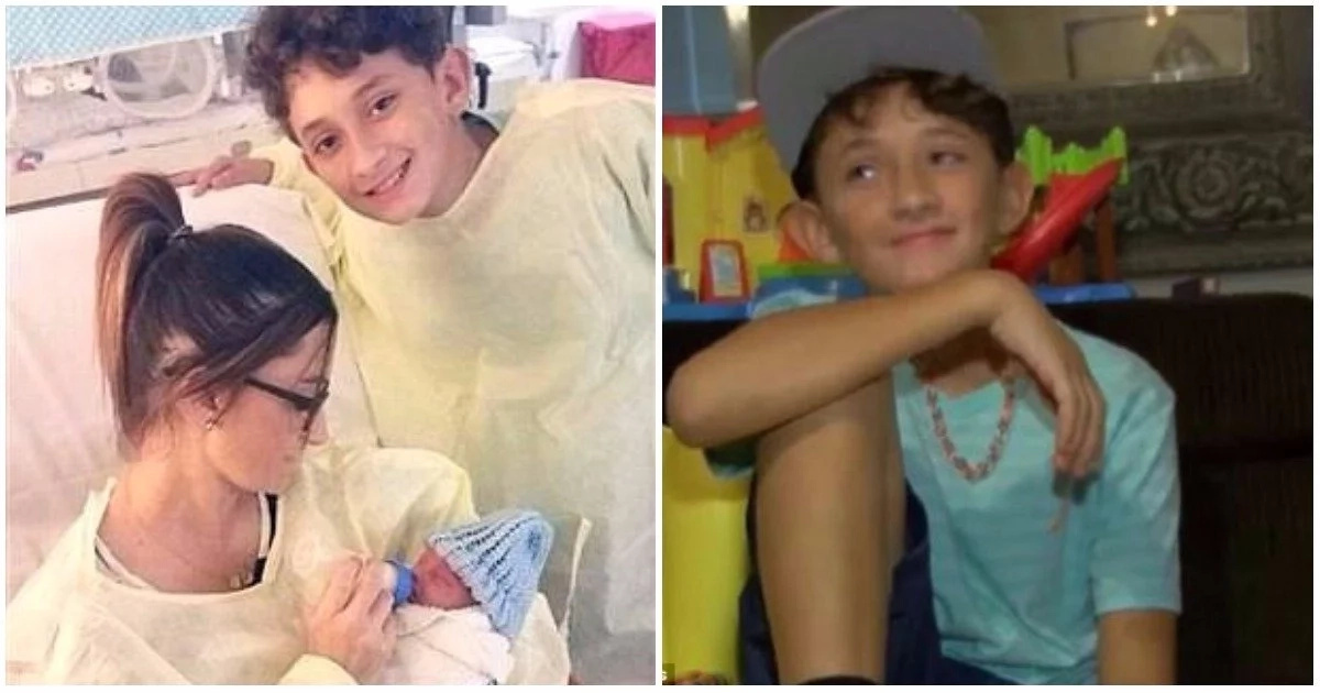 10-year-old boy delivers baby brother after mother went into labour unexpectedly (photos, video)
