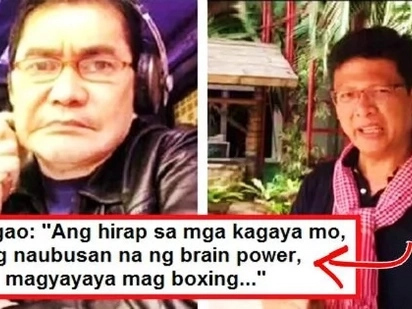 Journalist Ed Lingao fired back against Erwin Tulfo! He also accepted Tulfo's fist fight challenge: 'Ano ito, pakapalan lang ng mukha?'