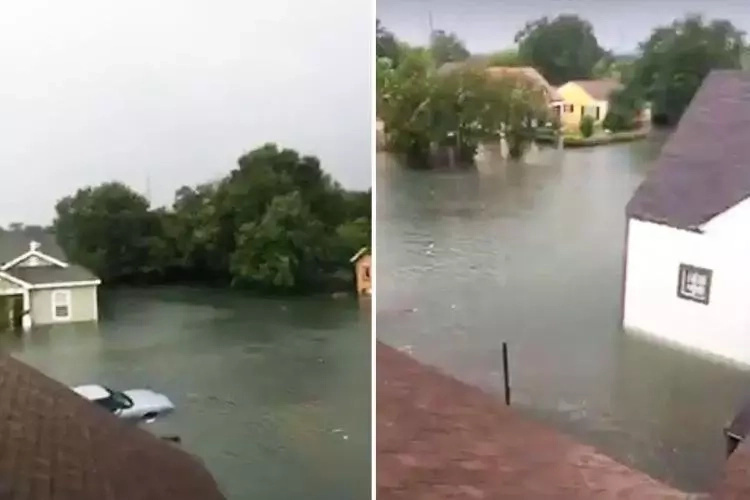Man, 23, saves 50 people from drowning during hurricane floods after rescuers failed to show up