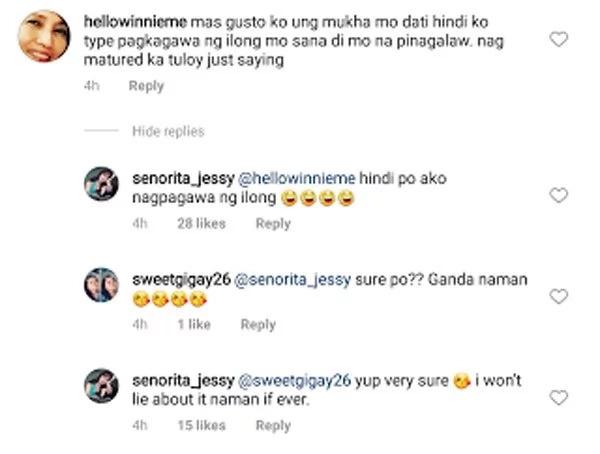Jessy Mendiola vehemently denies that she had a nose job