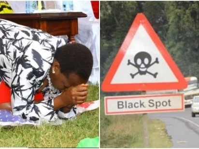 William Ruto's wife leads prayers to cleanse Salgaa black spot after endless deadly accidents