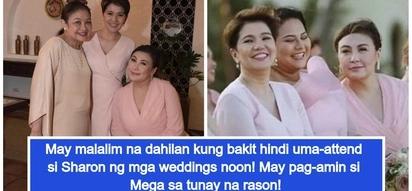 Sharon Cuneta, binunyag ang totoong dahilan kung bakit hindi siya uma-attend ng weddings noon