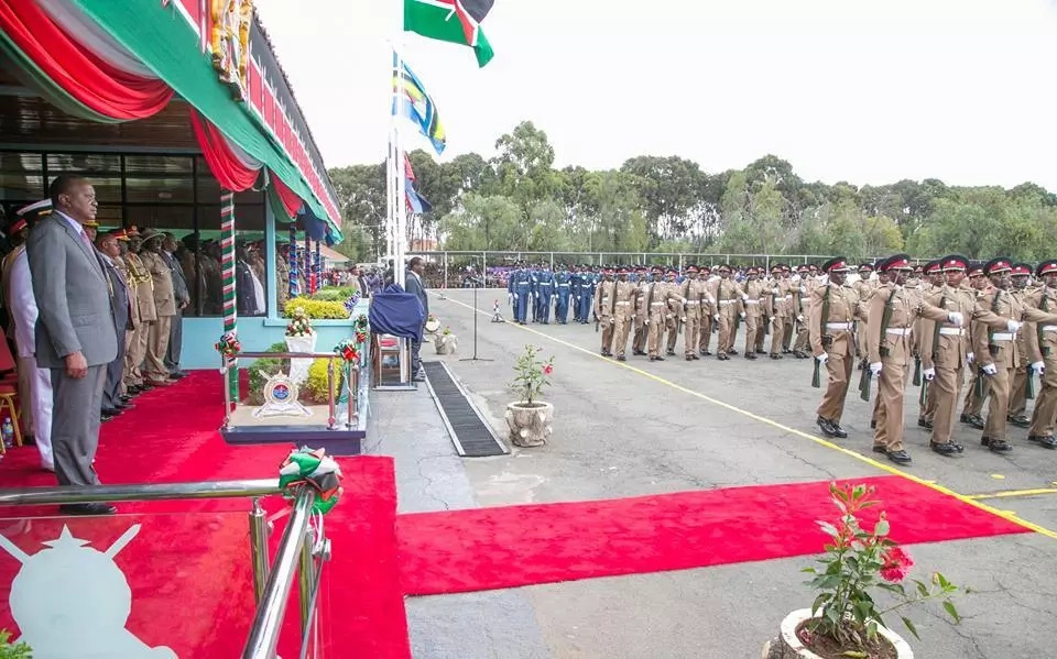Uhuru attends his first major assignment after being sworn in