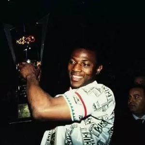 As the Nigeria captain after winning the africa cup of nations in 1994