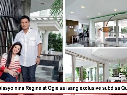 Napaka-bongga ng bahay nila! Regine Velasquez and Ogie Alcasid give a glimpse of their hilltop palace in exclusive Quezon City Subdivision