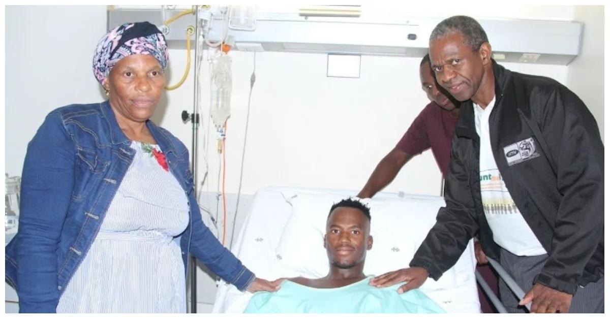 SA triathlete Mhlengi Gwala is in high spirits following surgery