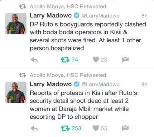 DP Ruto implicated in the murder of two Kisii women