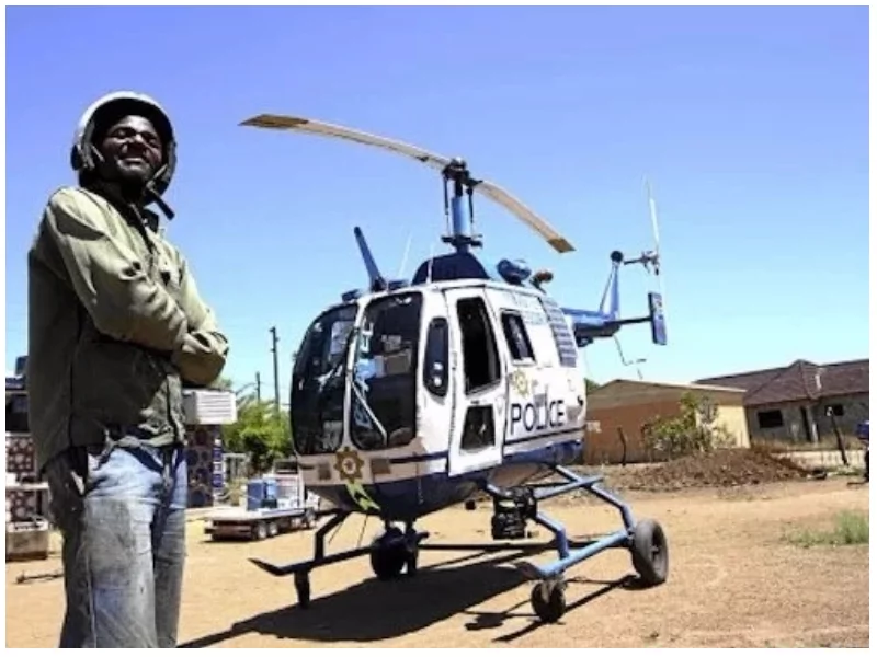 Man who built astonishing replica of police helicopter gets to fly in real life