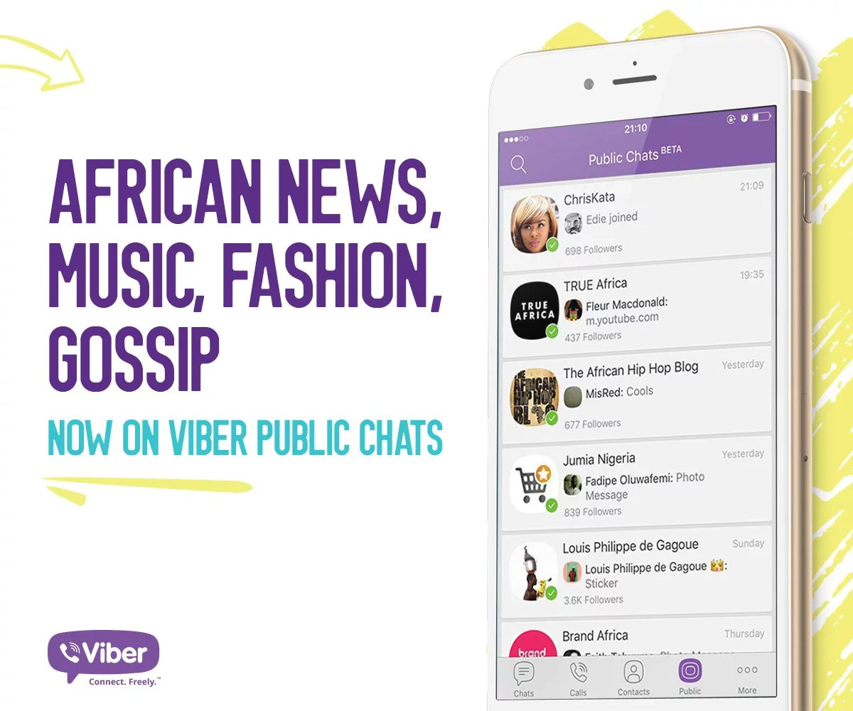 Viber Public Chats availed in Kenya and rest of Africa