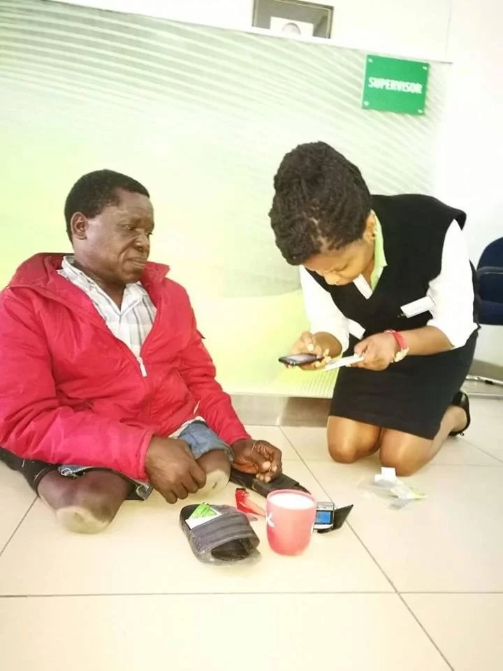 Safaricom employee who selflessly helped disabled man finally rewarded