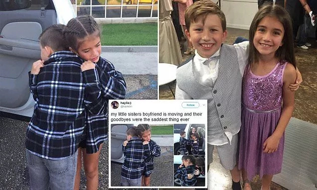 Inseparable 9-year-old couple melts thousands of hearts with their tearful goodbye as one is forced to move away
