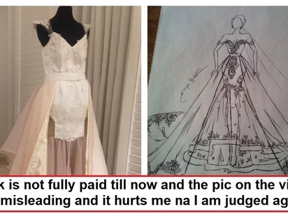 Nagsampahan na ng reklamo! Designer of the viral wedding gown airs her side of the story in the hopes of clearing her name