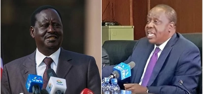 Raila says Matiang'i is undermining peace deal he made with Uhuru