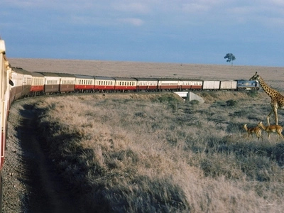 9 compelling photos that prove the Standard Gauge Railway going through Nairobi National Park is nothing new