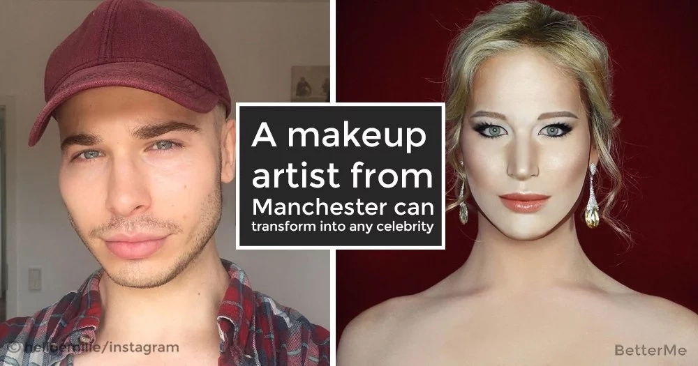 A makeup artist from Manchester can transform into any celebrity