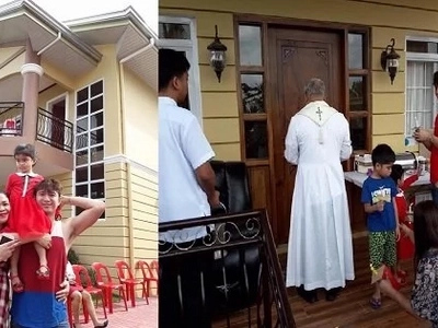Be the first to see! Melai Cantiveros & Jason Francisco share awesome photos of their home during house blessing