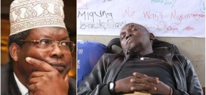 Miguna's message to Kisumu man who tried to sacrifice his life for him