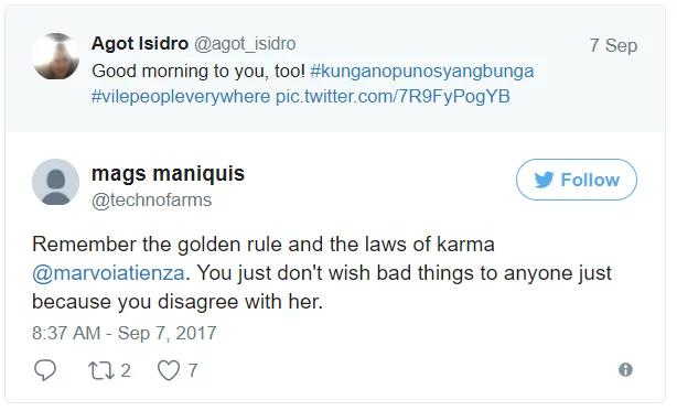 Wag naman ganun! Agot Isidro calls out vile tweet from basherz