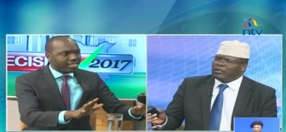Fireworks at NTV as Larry Madowo and Miguna Miguna engage