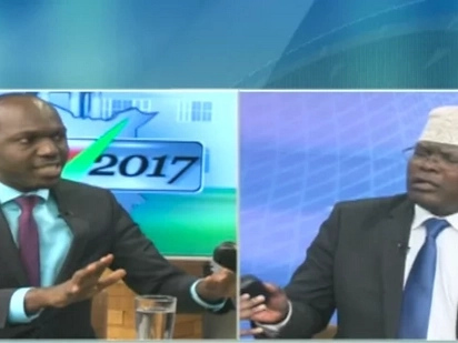 Fireworks at NTV as Larry Madowo and Miguna Miguna clash