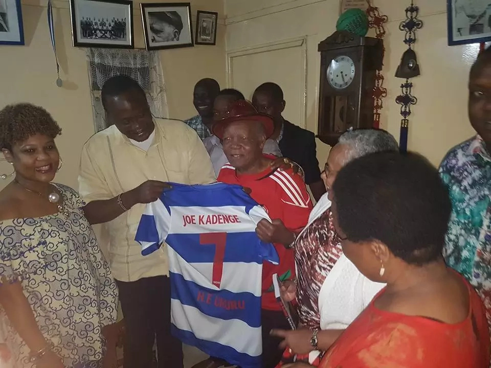 Finally, football legend Joe Kadenge meets Uhuru