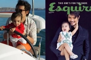 Mag-ama naman! Dingdong Dantes and Baby Zia stun in this epic magazine cover