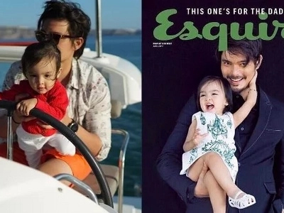 Dingdong Dantes gets paired with Baby Zia for a magazine cover and it's totally adorable