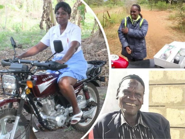 Meet midwife on bike is in the race to save lives of babies and expectant mothers (photos)