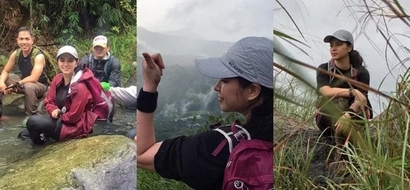 Ecstatic Angel Locsin has returned to mountain climbing after 1 ½ years