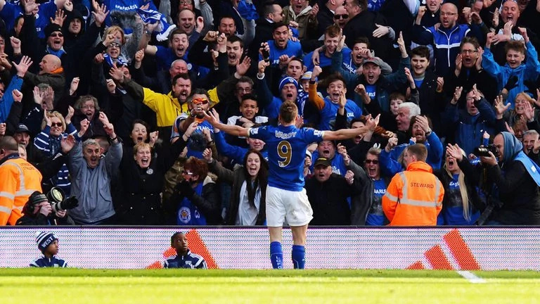 Leicester fans celebrate goals so vehemently causing seismic spikes