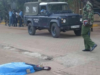 Shocking video of a terrorist killed outside US embassy in Nairobi