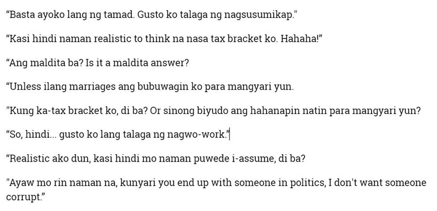 "Kris Aquino gets real about finding a richer BF: ""Hindi realistic to think na nasa tax bracket ko."""